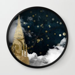 Cloud Cities New York Wall Clock