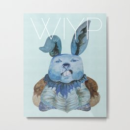 Blue Rabbit What Is Your Problem?! Metal Print