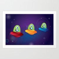 Baby Aliens Art Print
