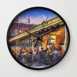 NOLA Cafe Du Monde Wall Clock