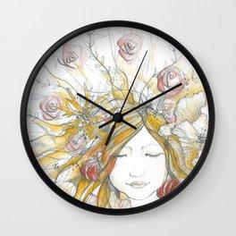 Autumn Poppy Fairy Wall Clock