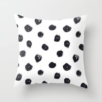 polka dot Throw Pillows featuring POLKA DOT by Maria Parsons
