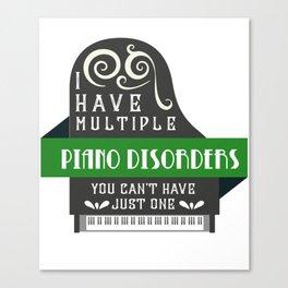 Piano Player Classical Music Music Teacher Canvas Print