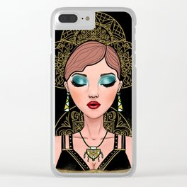 Gilded Dream Clear iPhone Case