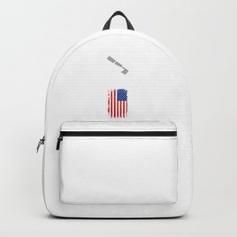 United states flag people power Backpack