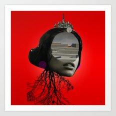 the red girl · 1 Art Print