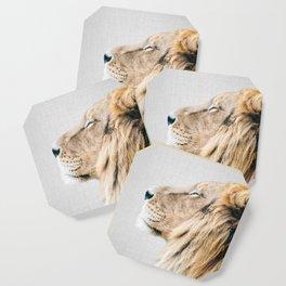 Lion Portrait - Colorful Coaster