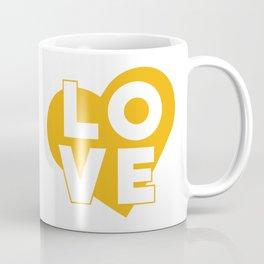 LOVE & heart // mustard Coffee Mug