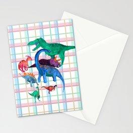 Triassic Plaid Stationery Cards