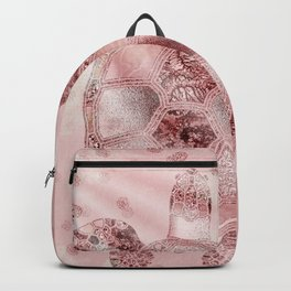Glamour Turtle Rose Gold Backpack