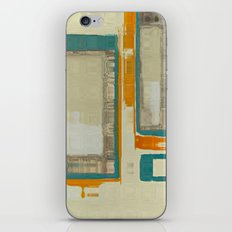 Mid Century Modern Blurred Abstract iPhone & iPod Skin