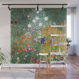 "Gustav Klimt ""Blumengarten (Flower Garden)"" Wall Mural"