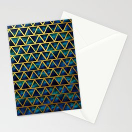 Blue and gold universe Stationery Cards