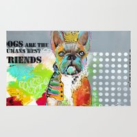 dogs Area & Throw Rugs featuring Dogs... by zAcheR-fineT