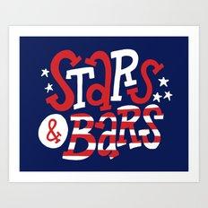 Stars and Bars Art Print