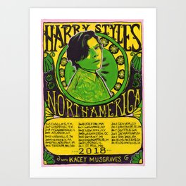 harry styles: live on tour poster Art Print