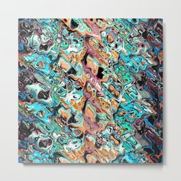 Colorful Distortions Abstract Metal Print