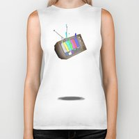 tv Biker Tanks featuring tv by Nate Galbraith