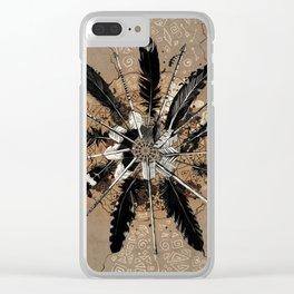 native vintage mandala Clear iPhone Case