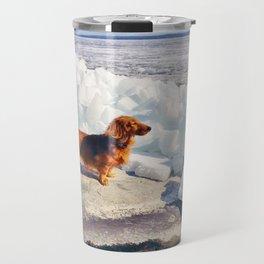 Dachshund and ice age Travel Mug