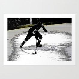 On the Move - Hockey Player Art Print
