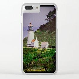 Haceta Head Lighthouse Oregon Clear iPhone Case