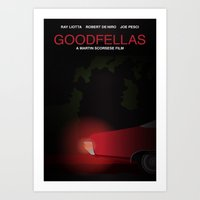 goodfellas Art Prints featuring Goodfellas tribute poster by kinographics