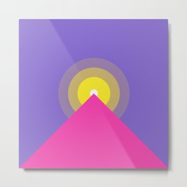 Purple minimal mountain Metal Print