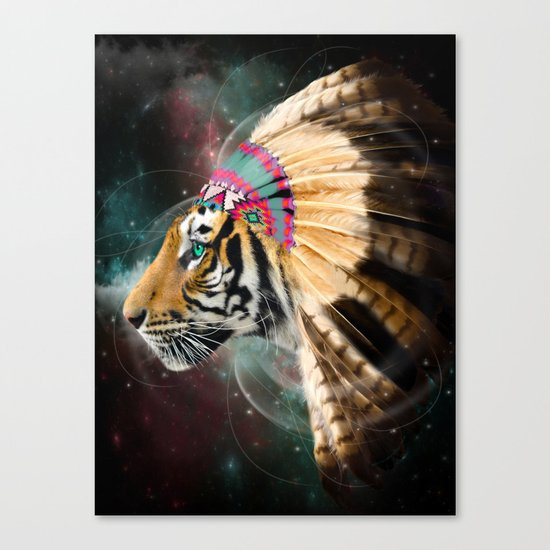 Fight For What You Love (Chief of Dreams: Tiger) Tribe Series Canvas Print