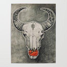 Tomato Skull Poster