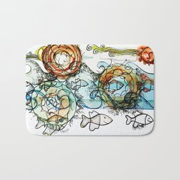 Life on the Earth  - The Ocean - Lighter version Bath Mat