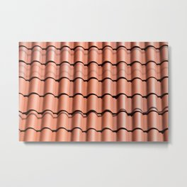 clay tile roof background Metal Print