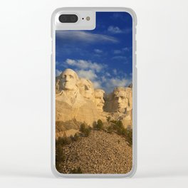 Sunrise over Mount Rushmore National Memorial. Clear iPhone Case