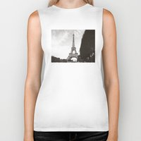 eiffel Biker Tanks featuring eiffel by ingardens