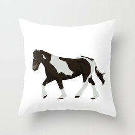 Skewbald Throw Pillow