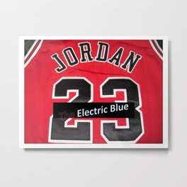 Electric Blue I'm Jordan Metal Print