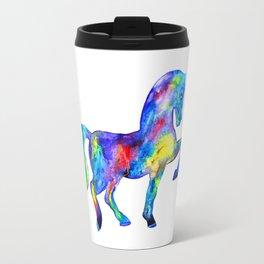 Horse, rainbow Travel Mug