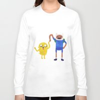 finn and jake Long Sleeve T-shirts featuring Finn And Jake! by Ben Morgan