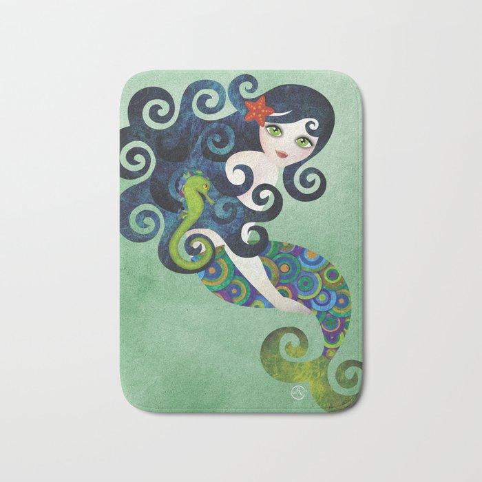 Aquamarine Mermaid Bath Mat