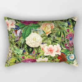 Vintage Floral Garden Rectangular Pillow