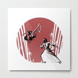 Mouthy Ninja vs Immortal Samurai Metal Print