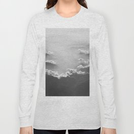 Clouds (Black and White) Long Sleeve T-shirt