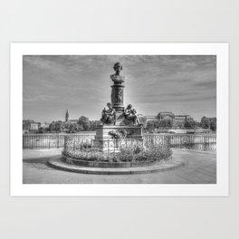 Dresdener Ansichten / Brühlsche Terrassen Art Print