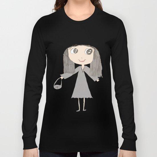 Greyzoolina   Kids Painting by Elisavet Long Sleeve T-shirt