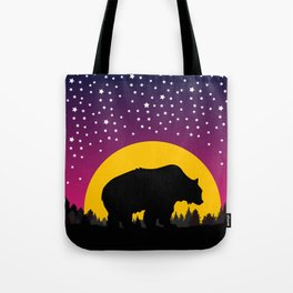 Bear Stars Moon Tote Bag