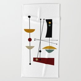 Mid Century Art 11 Beach Towel