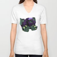 transformers V-neck T-shirts featuring Transformers animated - Lugnut by Smellyscab
