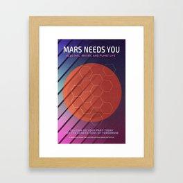 Mars Needs You Framed Art Print