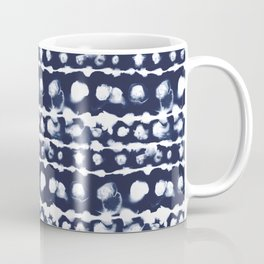 Dye Dot Stripe Indigo Coffee Mug