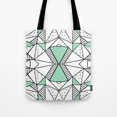 Ab Lines and Spots Mint Tote Bag